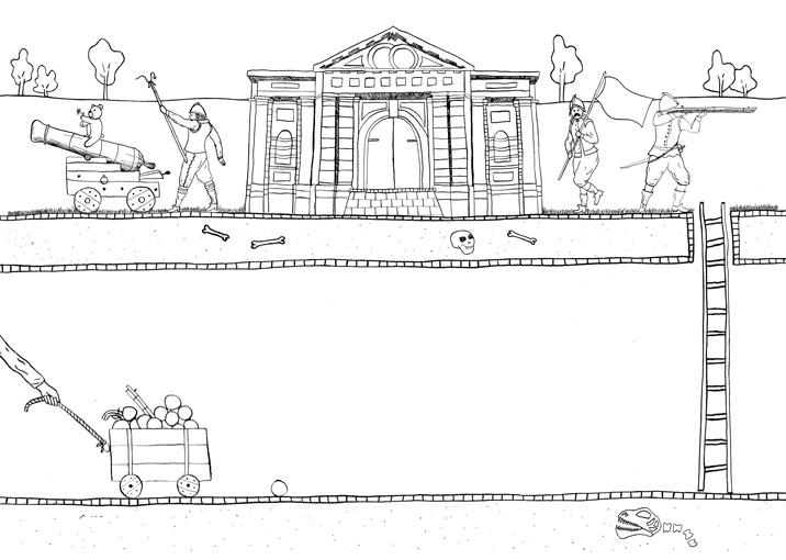 illustratie historisch grave Merel van Lamoen
