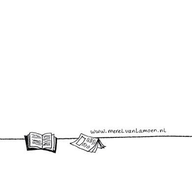 verhuiskaart achterkant illustratie Merel van Lamoen